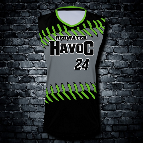 Women's sublimated sleeveless jerseys $25